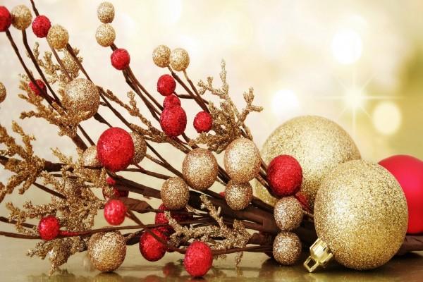 Vistoso y delicado arreglo navideño
