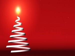 Un moderno y vistoso árbol de Navidad