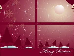 """Noche de luna llena esperando la """"Feliz Navidad"""""""