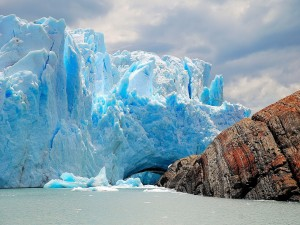 Postal: Vista del glaciar Perito Moreno (Argentina)