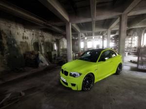 Un BMW fluorescente