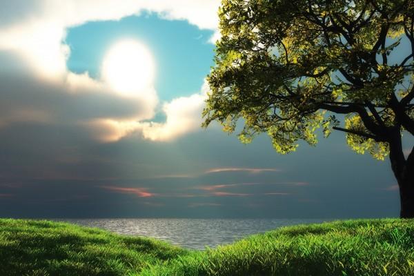 Dos cielos sobre el mar