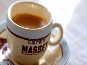 Taza con café reciente