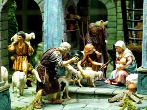 Postal: Representación del nacimiento del niñito Jesús