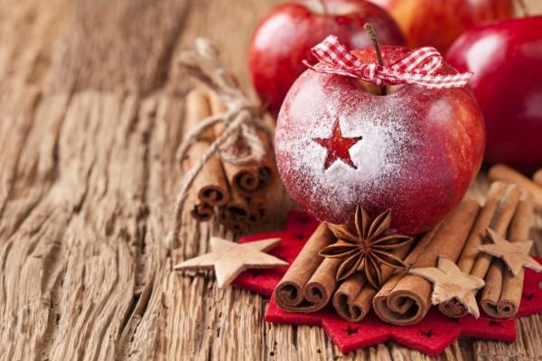 Manzana y canela para Navidad