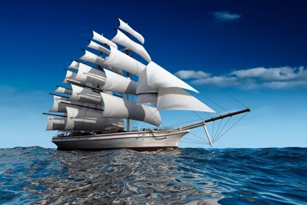 Buque de vela en el mar