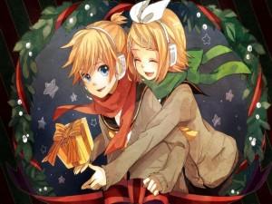 Kagamine Rin y Len en Navidad