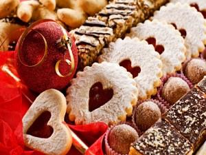 Galletas preparadas para Navidad y Año Nuevo