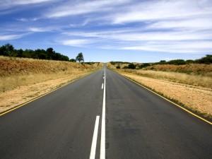 Postal: Carretera de doble sentido