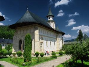 Postal: Monasterio ortodoxo en Rumania