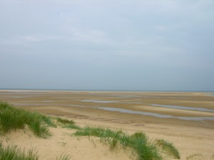 Gran playa en marea baja