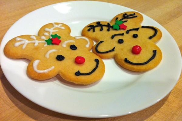 Galletas de renos navideños