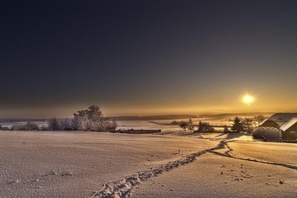 Mañana de invierno silenciosa