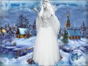 Postal: Reina de las nieves