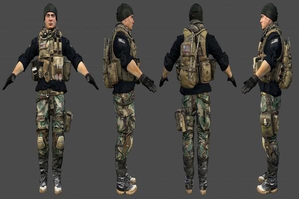 Modelo militar para Battlefield 4