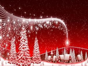 Postal: Postal con diseño navideño