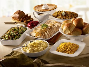 Postal: Rica comida de Acción de Gracias