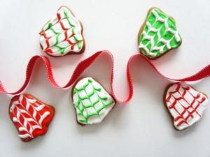 Postal: Galletas para decorar en Navidad