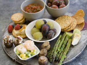 Plato con aperitivos
