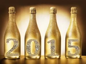 """Postal: Festejando el """"Nuevo Año 2015"""" con champán"""