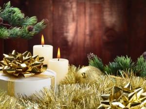 Postal: Elementos decorativos para Navidad y Año Nuevo