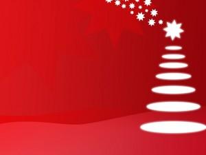 Postal: Fondo navideño con estrellas y círculos