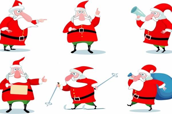 Imágenes de Papá Noel en varias situaciones