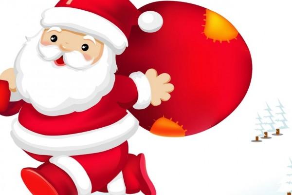 Papá Noel con la bolsa de regalos