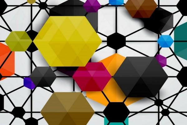 Hexágonos en varios colores