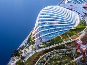 Vista de un edificio de Singapur