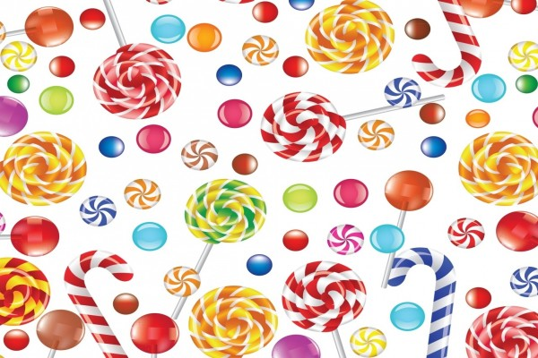 Fondo con caramelos variados