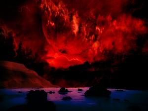 La superficie de un planeta