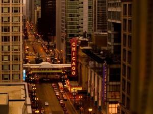 Carretera en la ciudad de Chicago