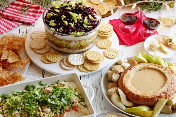 Comida variada para una celebración