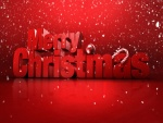 ¡Feliz Navidad! con grandes letras rojas