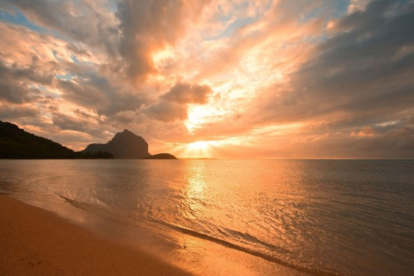 Espectacular playa desierta