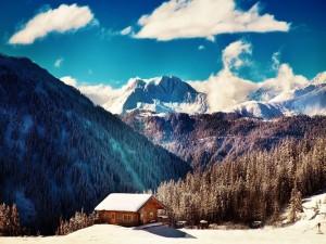 Espléndido paisaje alpino