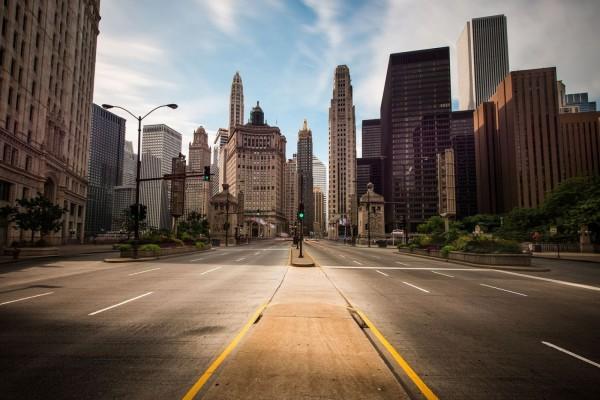 Calles vacías en la ciudad