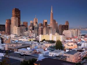 Vista panorámica de la ciudad de San Francisco, California