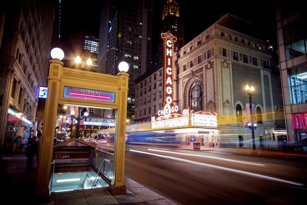 Estación de metro en Chicago