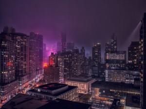 Postal: Nueva York en la noche