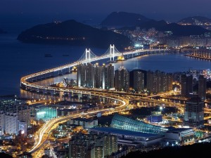 Postal: Puente Gwangan, Corea del Sur