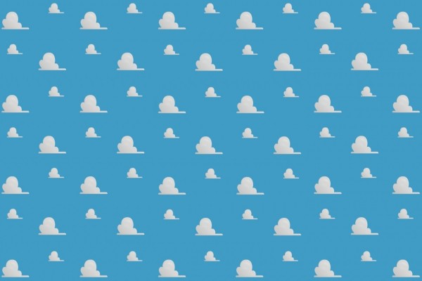 Fondo con nubes en un cielo celeste
