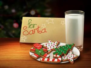 Carta y alimentos para Papá Noel