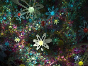 Fondo cubierto de flores digitales