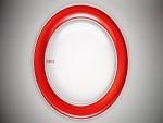 Círculo rojo y blanco