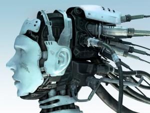 La cabeza de un robot