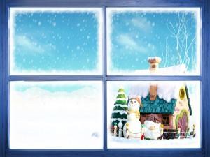 Postal: Ventana de la Navidad