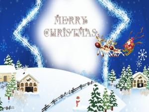 Santa Claus te desea ¡Feliz Navidad!