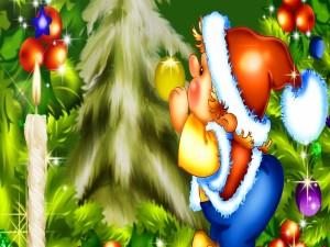Decorando el árbol de Navidad